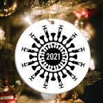 Christmas 2021 Vaccine Ornament