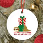 Sloth Christmas Ornaments - 2021 Ornament