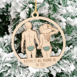 Putting It All Behind Us In 2021 Wooden Ornament