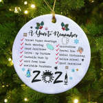 2021 a Year To Remember Ornaments Year Of Quarantine Ornament