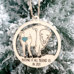 Cattle Wooden Ornament Putting It All Behind Us In 2021