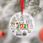 Christmas Ornament 2021 Pandemic Commemorative Year In Review