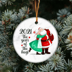 2021 The Year Of The Hug Christmas Ornament