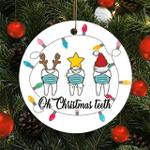 Oh Christmas Teeth Wearing Face Mask Dentist Hygienist Dental Gift Christmas Ornament 2021
