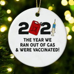 2021 a Year Look Back Christmas Ornament Vaccinated 2021 Christmas Ornament