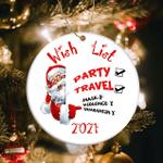 2021 Christmas Wish List Ornament Funny Santa Ornament