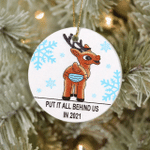 Putting It All Behind Us Ornament Funny Reindeer Mask Ornament