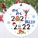 Bye Bye Christmas 2021 Ornament Funny Xmas Bauble Christmas Quarantine Ornament