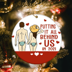 Funny Couple Ornament Putting It All Behind Us 2021 Christmas Ornament