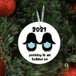 Putting It All Behind Us 2021 Penguin Bums Masks Penguins Humor Gift Present Couple Christmas