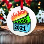 2021 Funny Dumpster Fire Keepsake Christmas Ornament