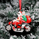 Motorcycle Claus Christmas Ornament