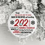2021 Pandemic Ornament Quarantine Ornament Coronavirus Ornament