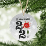 2021 Vaccinated Ornament Pandemic Vaccinated Ornament