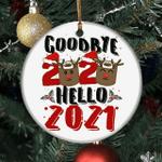 Goodbye 2020 Hell 2021 Christmas Tree Hanging Ornaments