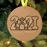 Personalized Pet 2021 Wood Christmas Ornament