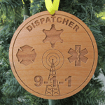 Personalized Dispatcher Wood Christmas Ornament