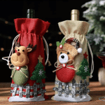 Cute Wine Bottle Cover Holiday Wine Bag Family Gift Employee Gift Christmas Wine Bottle Cover