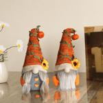 Halloween Sunflower Pumpkin Gnomes Halloween Interior Decoration