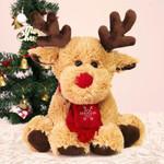 Cute Christmas Reindeer Plush Doll Ornaments