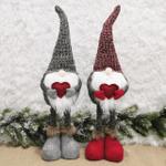 Christmas Stretchable Leg Snata Gnome Doll Ornaments