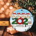 2021 Covid Vaccinated Ornament Family Vaccine Ornament