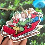 Buddy The Elf And Jovie On Santa's Rocket Sleigh
