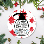 Christmas Ornament Wash Your Hands Jesus 19 Everywhere