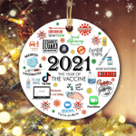 2021 Christmas Ornament | The Year We Get Vaccinated |Travel Exemption 2021 Ornaments