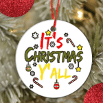 It's Christmas Y'All Funny Christmas Decoration Ornament