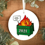 2021 Dumpster Fire (Green) 2021 Pandemic Ornament