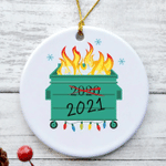 Christmas 2021 Dumpster Fire Ornament