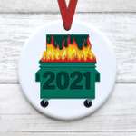 Funny 2021 Dumpster Fire Christmas Ornament