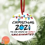 No Vaccine Ornament   Friends Ornament