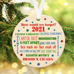 How Could We Forget 2021 Ornament 2021 Christmas Ornament