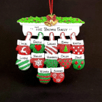 Fireplace Mantel Mittens Personalized Christmas Ornament