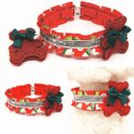 Red Green Christmas Dog Collar Winter Dog Collar Holiday Dog Collar