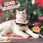 Crochet Pet Cat Dog Collar Pattern- Pet Accessories Crochet Pattern Christmas Ornaments Dog Cat Scarf