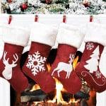 Christmas Stockings Red Reindeer - Stylish Xmas Stockings Decorations