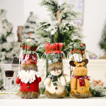 Christmas Wine Bottle Knit Sweater Covers