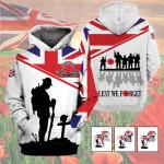 3D Veterans Apparel - Limited Edition - Lest We Forget V1