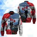 3D Bomber Jacket - Lest we forget - Canada