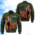 3D Bomber Jacket - Lest we forget - Canada