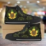 weed sunflower Unisex High Top Canvas Shoes
