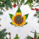 Weed Sunflower Ornament