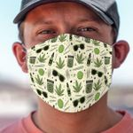 Weed Pattern Face Mask PM 2.5 3pcs #92974