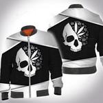Weed skull silver metal 3D All Over Printed Shirt, Sweatshirt, Hoodie, Bomber Jacket Size S - 5XL