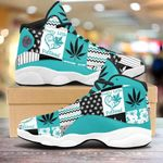 Weed pattern Air Jordan 13 Sneakers