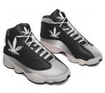 Weed silver metal Air Jordan 13 Sneakers