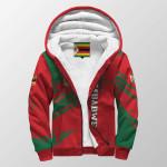 3D Print Full Sherpa Hoodie - Zimbabwe